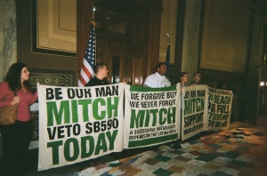 DREAMers outside of Governor Mitch Daniel's Office